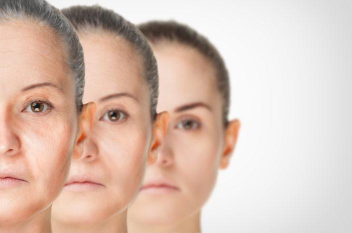 त्वचा की उम्र बढ़ना